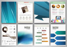 Blue abstract backgrounds and abstract concept infographics. Abstract vector backgrounds and brochures for web and mobile applications. Business and technology Stock Image