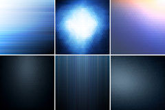 Blue abstract backgrounds. Collection of dark blue abstract geometric backgrounds Royalty Free Stock Images