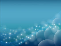 Blue abstract backgrounds planet and star Royalty Free Stock Photos