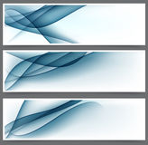 Blue abstract banners. Royalty Free Stock Photography