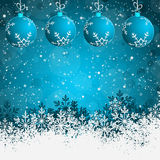 Blue Abstract beauty Christmas background Stock Images