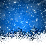 Blue Abstract beauty Christmas and New Year background Stock Photo