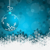 Blue Abstract beauty Christmas and New Year background Stock Photography