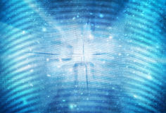Blue abstract binary numbers background. Artistic binary numbers data on abstract bokeh blurred blue colored background. Binary code illustration copy space Royalty Free Stock Photos