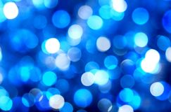 Blue abstract blurred background, bokeh ,circles, white and blue. Background  abstract  light  bright  christmas  color holiday  decoration design  blue  blur Royalty Free Stock Photo
