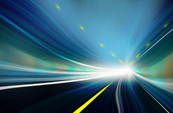 Blue Abstract blurred speed motion Stock Image