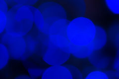 Blue abstract bokeh background Royalty Free Stock Images