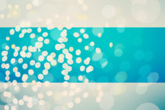 Blue abstract bokeh background with glittered vintage lights bac Royalty Free Stock Photos