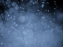 Blue abstract bokeh background and texture Royalty Free Stock Photography