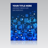 Blue abstract brochure background Stock Images