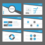 Blue Abstract Brochure report flyer magazine presentation element template a4 size set for advertising marketing website Stock Images