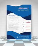 Blue abstract business flyer design Stock Images