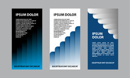 Blue abstract business template for flyer, brochure, presentation. A set of financial templates for a banner Royalty Free Stock Photography