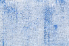 Blue abstract with camvas texture Stock Images