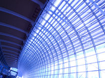 Blue Abstract Ceiling Interior royalty free stock photos