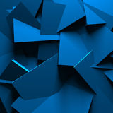Blue Abstract Chaotic Design Wall Background Stock Photos