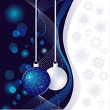 Blue abstract Christmas Stock Images