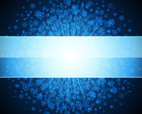 Blue abstract christmas background Stock Photo