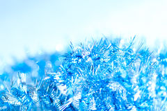 Blue abstract Christmas decoration background Stock Photo