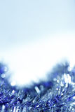Blue abstract Christmas decoration background Royalty Free Stock Image