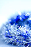 Blue abstract Christmas decoration background Stock Photos