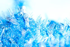 Blue abstract Christmas decoration background royalty free stock images