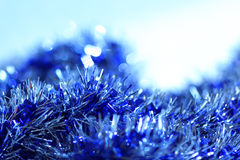 Blue abstract Christmas decoration background Stock Image