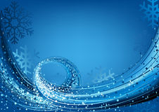 Blue Abstract Christmas Greeting Royalty Free Stock Photography