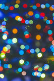 Blue abstract Christmas lights fireworks Royalty Free Stock Image