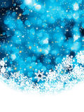 Blue abstract christmas with snowflake. EPS 8 Royalty Free Stock Photo