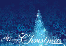 Blue Abstract Christmas Tree Royalty Free Stock Images