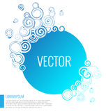 Blue abstract circle   background Stock Image