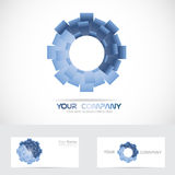 Blue abstract circle corporate logo Royalty Free Stock Photos