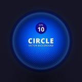 Blue abstract circle halftone design element vector illustration. Background royalty free illustration
