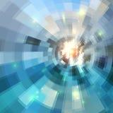 Blue abstract circles mosaic vector background Royalty Free Stock Photos