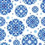 Blue abstract circles seamless pattern background Royalty Free Stock Images