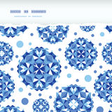 Blue abstract circles square seamless pattern Royalty Free Stock Image
