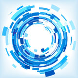 Blue Abstract Circles Vector Background Stock Photography