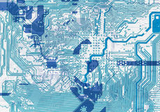 Blue abstract circuit board electronic background Stock Image