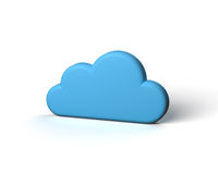 Blue Abstract Cloud on the White Background Stock Photo