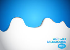 Blue abstract color dripping on white background, vector design Stock Images