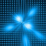 Blue abstract composition. Abstract blue net and blue rays composition Royalty Free Stock Photo