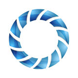 Blue abstract concept circle logo design Stock Photo