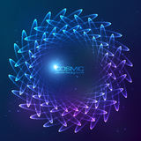 Blue abstract cosmic vector background Royalty Free Stock Photography