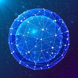 Blue abstract cosmic vector ball Royalty Free Stock Photo