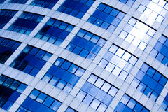 Blue abstract crop of modern office. Skyscraper Stock Photos