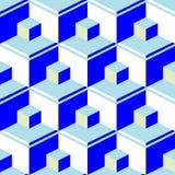 Blue abstract cubes Stock Photos