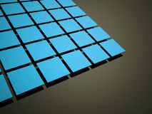 Blue abstract cubes background rendered Stock Image