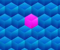 Blue Abstract Cubes Background Texture Royalty Free Stock Image