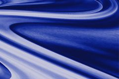 Blue abstract curves Royalty Free Stock Images